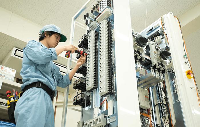 半導体生産装置向け制御盤